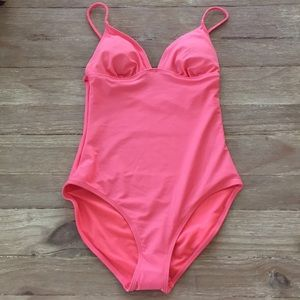 Old Navy Coral One Piece Swimsuit Swim Braided